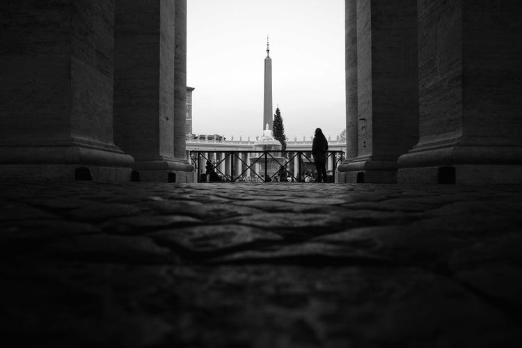 Trip to Rome Black And White Blackandwhite Cleric Italy Low Angle View Mediterranean  Monochromatic Monochrome Obelisk Pavement Roma Rome Rome Italy Vatican Vatican City VaticanCity
