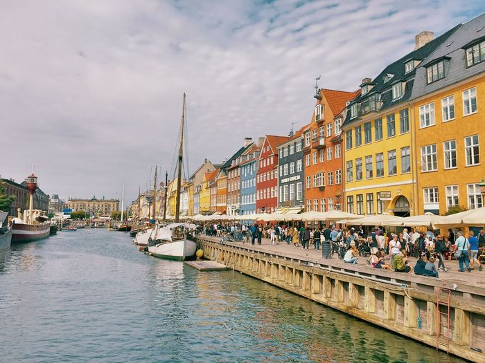 Nyhavn Building Exterior Water Sky Outdoors Nautical Vessel Cloud - Sky Waterfront