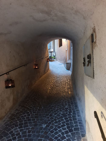 Limone Limone Sul Garda Absence Alley Arch Architecture Building Building Exterior Built Structure City Day Direction Empty Footpath Nature No People Outdoors The Way Forward Tunnel Wall Wall - Building Feature Window