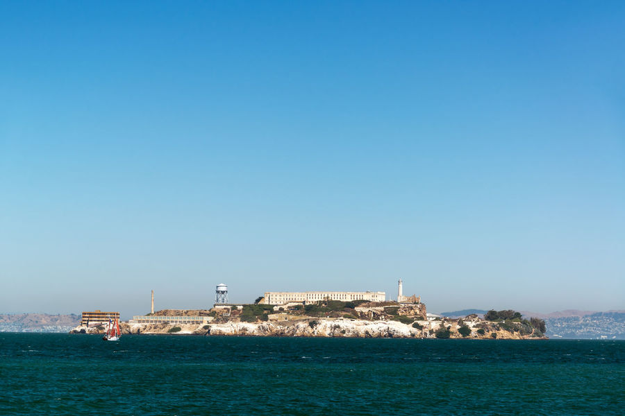View of Alcatraz Island in San Francisco Alcatraz American Architecture California City Gate Jail National San Francisco Travel USA America Attraction Building Historic Landmark Ocean Outdoors Penitentiary Prison Scenics Sea Sky Urban Water