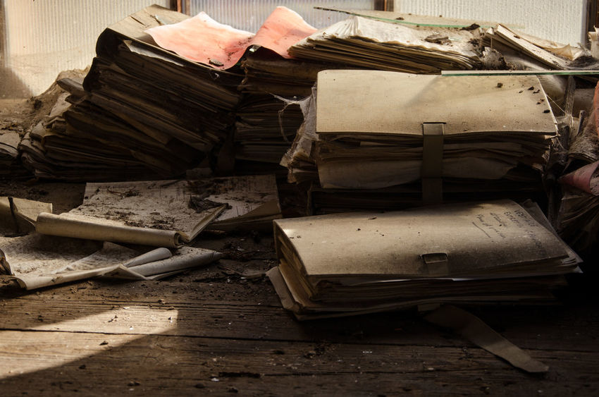 Wood - Material Stack Indoors  No People Day Close-up Urbex Abandoned Factory Bankrupt Bankruptcy Lorraine Files Office
