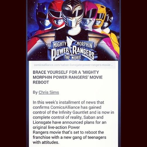Note to self: Don't expect anything from this reboot Powerrangers Reboot Saban 90skid