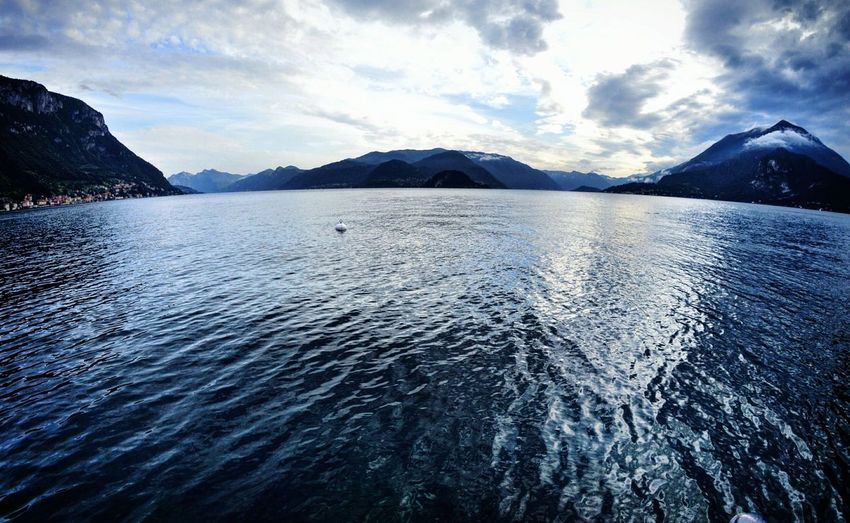 Varenna Lake Como Comolake View Panorama Fisheye Cold Coldcolors Calm Calm Water Calmness Lake View Mountains Landscape Places