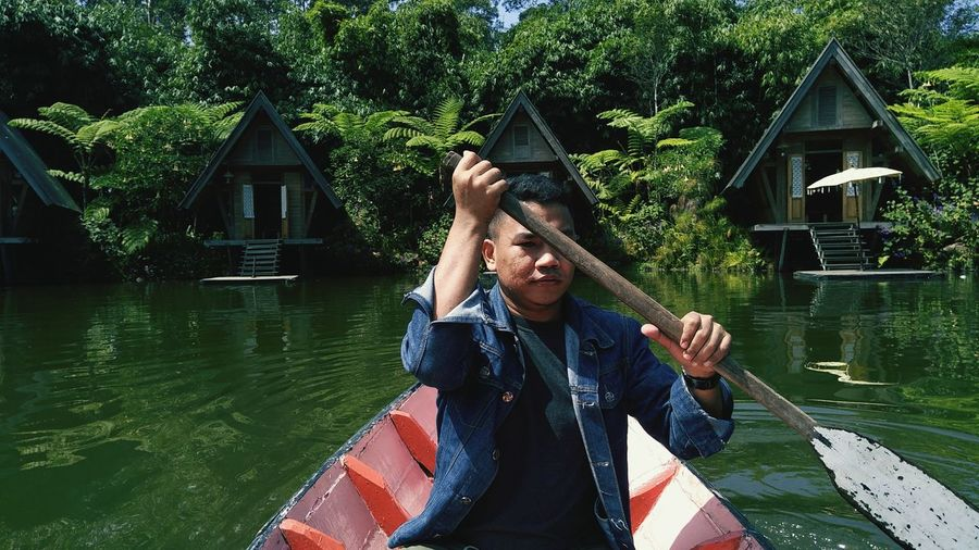 salah satu tempat indah di bandung, called dusun bambu, you will find something good in air, lill forest and warm and sound of bird. EyeEm Selects My Best Travel Photo Water Lake Men Happiness Tree Enjoyment Floating On Water Mid Adult Fun Architecture EyeEmNewHere