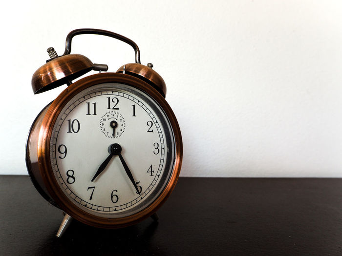 Old clock Accuracy Alarm Clock Analog Clock Clock Face Close-up Communication Hour Hand Indoors  Instrument Of Time Metal Minute Hand No People Number Retro Styled Single Object Still Life Table Time Wall - Building Feature