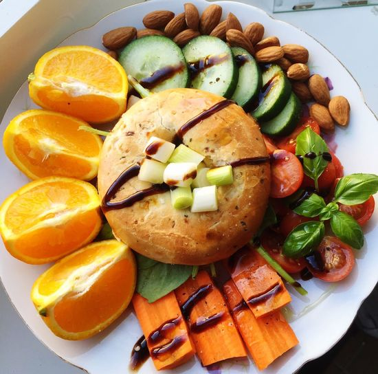 Lunch Today Bagel Healthy Food Meal