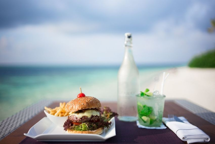 Food And Drink Drink Water Table Food Sea Ready-to-eat Horizon Over Water Bottle No People Indulgence Unhealthy Eating Freshness Day Serving Size Sky Refreshment Focus On Foreground Close-up Drinking Glass