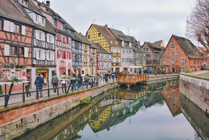 Colmar, a living real and free theme park. Christmas Holidays Houses Winter River Walk Spree Urbanity Urban Landscape Medieval Colorful Houses City With River Life By The River Riverside Colmar, Alsace, France Architecture Building Exterior Built Structure Water Reflection Canal Day