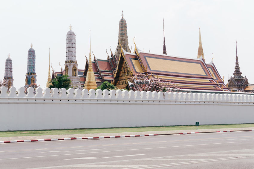 Architecture Bangkok Building Exterior Built Structure Day Grand Palace Bangkok Thailand No People Outdoors Palace Roof Sky Thailand Travel Travel Destinations Travel Photography Traveling