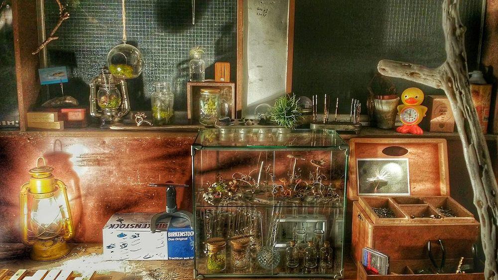 心地いい寝不足製作所😪💤 Enjoying Life From My Point Of View Light And Shadow Getting Inspired MyFavorite  Myhobby Desk Atelier Driftwood Glass マイここフィリア