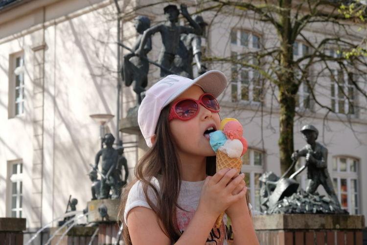Girl eating ice cream