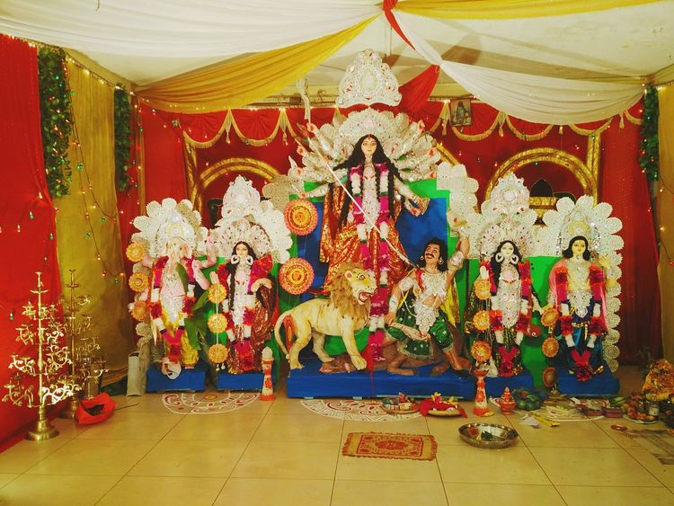 Durga Puja. Statue Maa Durga Durga Durga Puja 2016 Durgapuja Durga Pujo Durga Puja Durgapuja2016 DurgaPooja Durgapujo Incredible India Culture Tradition No People Idols God Hinduism Bengali Bengali Culture Festival Dusshera Navratri Bangla Culture And Tradition Worship