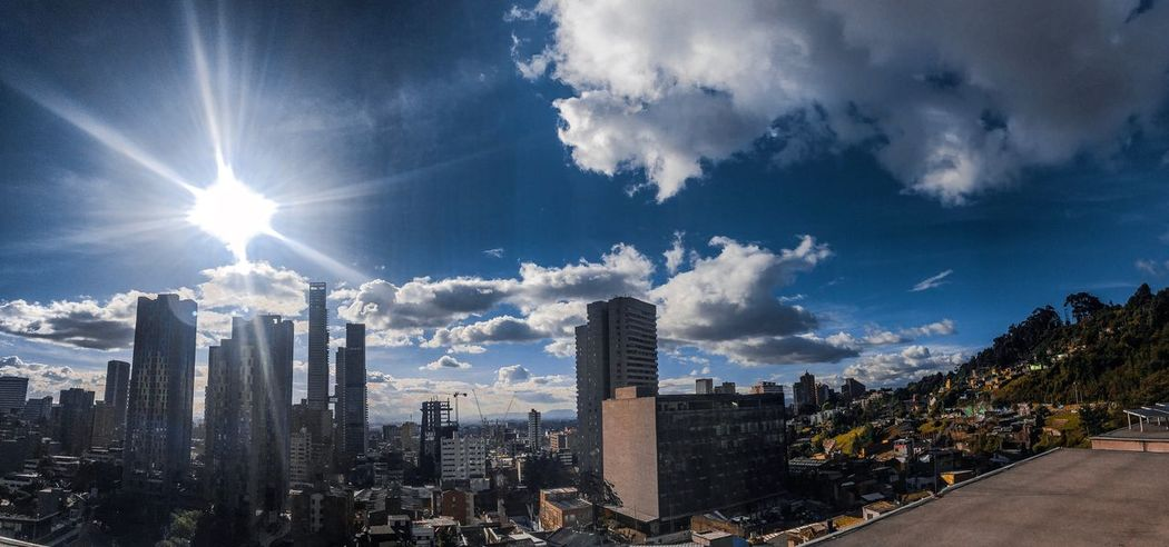 Bogotá Architecture Built Structure Building Exterior City Sky Building Office Building Exterior Nature Skyscraper Urban Skyline Landscape No People Office Residential District Cityscape Cloud - Sky Sunlight Tall - High Tower Tree