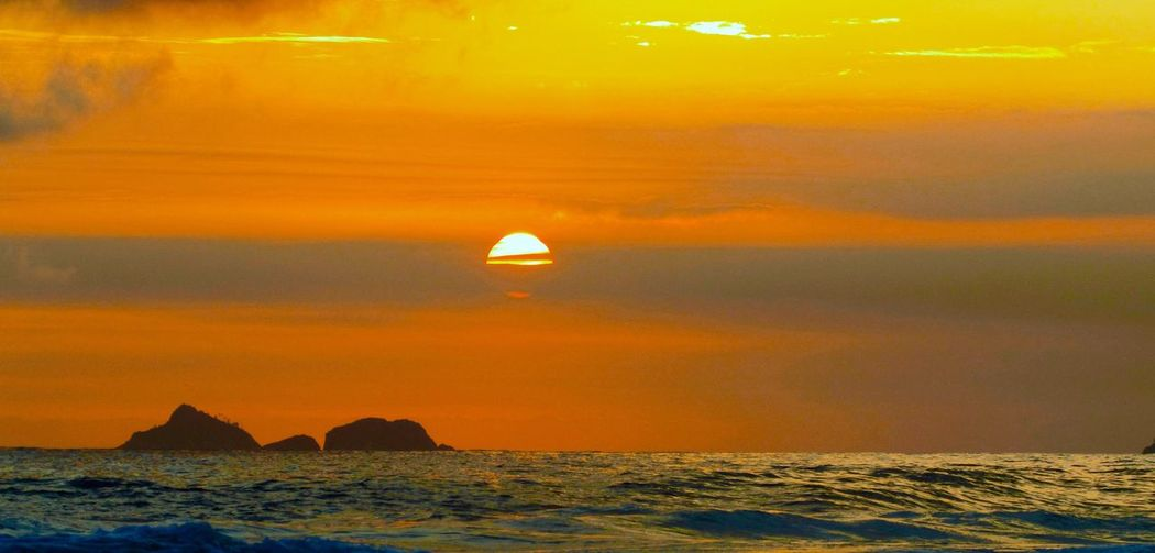 Golden hour Sunset Sea Orange Color Beauty In Nature Scenics Sun Tranquility Nature Tranquil Scene Sky Outdoors No People Water Horizon Over Water Day Perspectives On Nature The Great Outdoors - 2018 EyeEm Awards