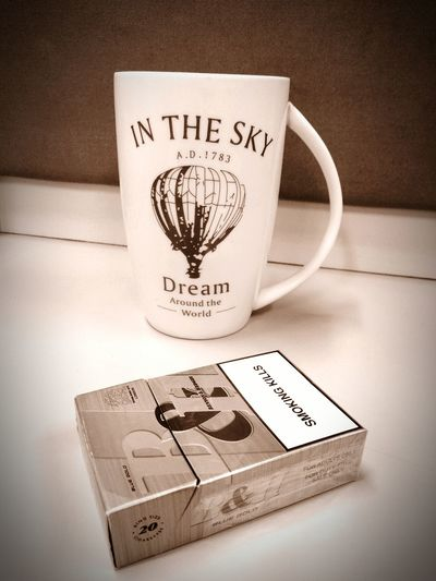 Coffee And Cigarettes Coffee Time Starting Off My Day Office Life Work Desk !! Cigarette  Coffee Cup Smoke Coffee And Smoke