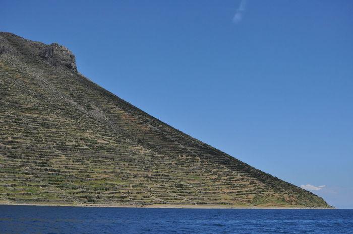 Amantaní Island Amantani Island Ancient Civilization Clear Sky Island Lake Lines And Shapes Nature Pyramid Titicaca Lake