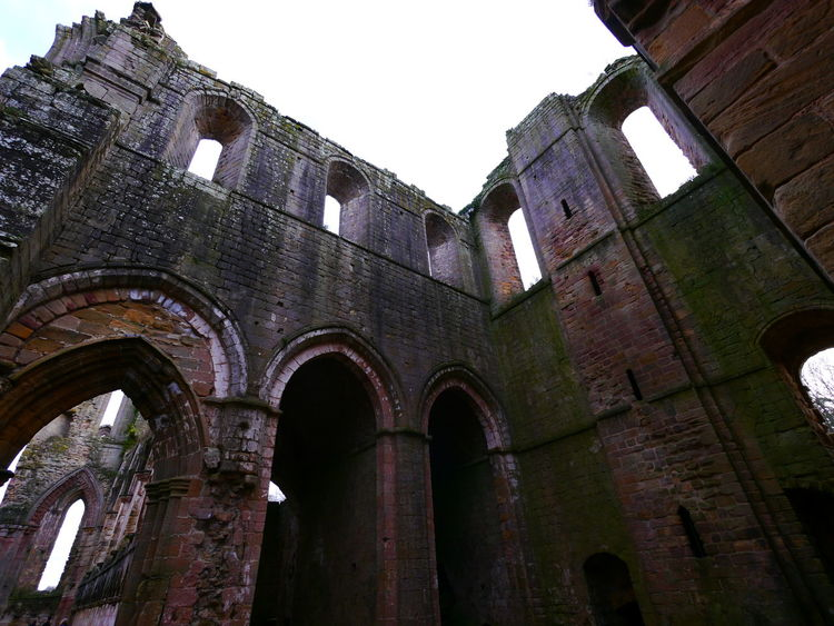 Ancient Ancient Civilization Arch Architecture Building Exterior Built Structure Clear Sky Day December December 2016 Fountains Abbey Fountains Abbey Yorkshire Fountains Abbey, Yorkshire History Low Angle View No People Old Ruin Outdoors Sky