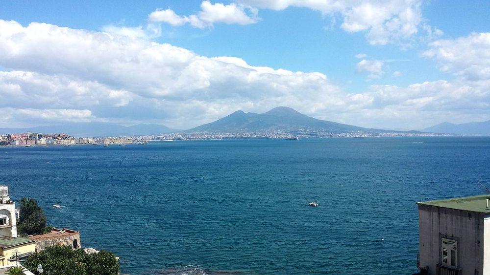 Water Scenics Tranquil Scene Tranquility Tranquility Relaxing Mare E Sole Campania Napoli Panoramic Photography Panorama Water_collection Vesuvio Vesuvius  Golfo Di Napoli
