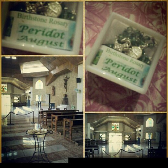 For GUIDANCE♡ Birthstone Rosary Giftshop Trappist guimarasgoodluckcharmPeridotAugust