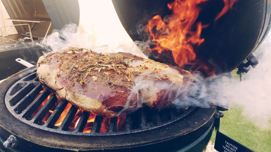 Barbecue Barbecue Grill Burning Close-up Day Fire Pit Flame Food Food And Drink Freshness Gourmet Grilled Heat - Temperature Meat No People Outdoors Preparation  Ready-to-eat Rib Roasted Smoke - Physical Structure