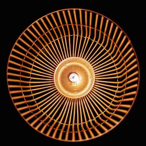 Directly below shot of illuminated pendant light