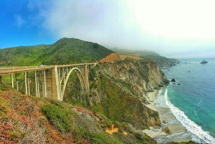 Bixby Bridge. Big Sur, California First Eyeem Photo Bridges Hdrphotography California Beach LizzarioPhotoArt