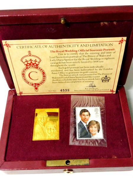 Royal History Princess Diana Royalty Royal Wedding Stamp Set Authentic Artefact 43 Golden Moments