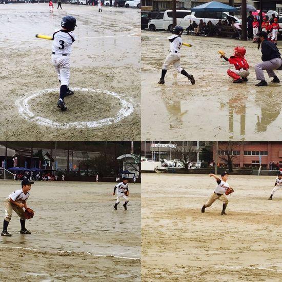 今日はあいにくの天気の中… 息子の 野球 でした!試合は負けましたが…息子は1試合目は4番サード、2試合目は4番ショートからピッチャーと楽しんで頑張ってました(*^^*) 少年野球 泥んこ