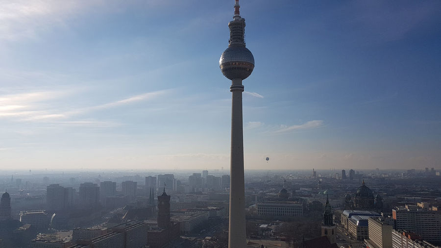 Berlin TV Tower Alexanderplatz Panorama Architecture Building Exterior Built Structure City Building Sky Tall - High Cityscape Tower Travel Destinations Nature Tourism Travel Spire  No People Skyscraper Day Office Building Exterior Outdoors Modern Global Communications TV Tower Alexanderplatz Berlin