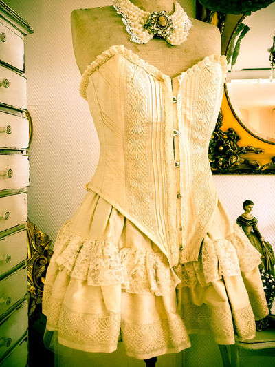 Classic Mannequin Old-fashioned Stylish Bridal Shop Bride Choice Class Close-up Day Evening Gown Fashion Indoors  Life Events Outoftime People Retail  Retro Styled Shabby Shabby Chic Store Style Wedding Wedding Dress White Color First Eyeem Photo