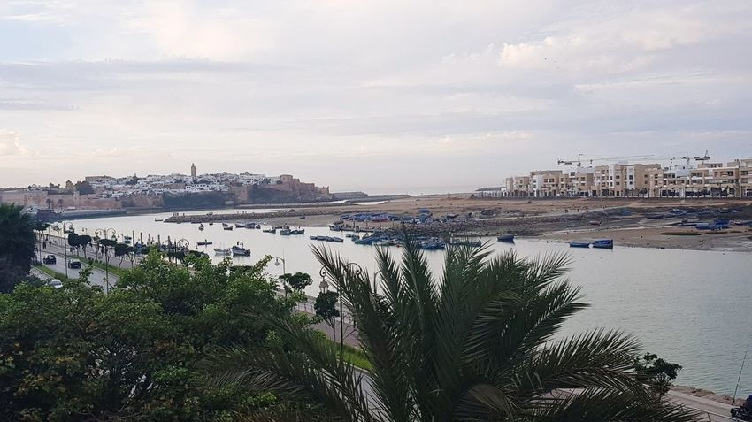 les deux ville jumelles Rabat et salé Rabat Morrocco Beautiful Nature Superbe Vue Beautiful Day Vue Très Beau Temps Maroc Outdoors Sea Water No People Beach Day Sky Beauty In Nature City Nautical Vessel Tree Nature Horizon Over Water