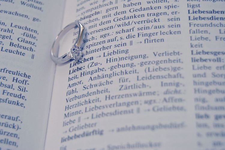 Ring in open german dictionary