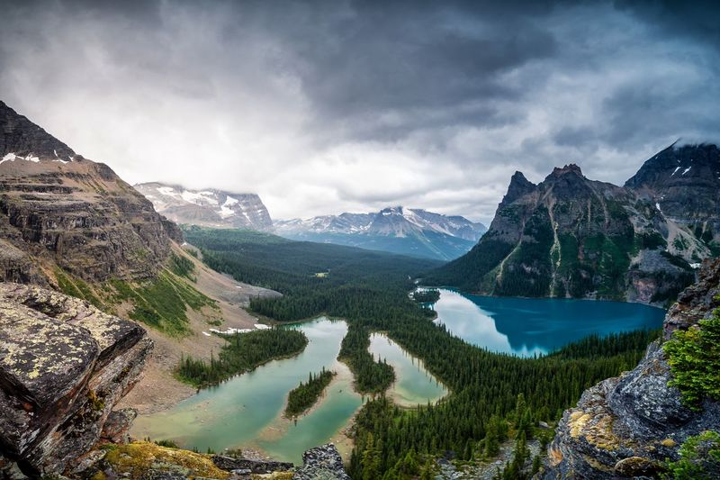 Lake O'hara Colors Colorful Cloud - Sky Clouds And Sky Rock - Object Tranquility Adventure Travel Destinations Tranquil Scene EyeEm Best Shots EyeEmNewHere EyeEm Nature Lover Eye4photography  EyeEm Gallery Canada Mountain Lake Snow Mountain Range Pinaceae Nature Landscape Water Scenics Outdoors Beauty In Nature No People Night Tree Sky An Eye For Travel