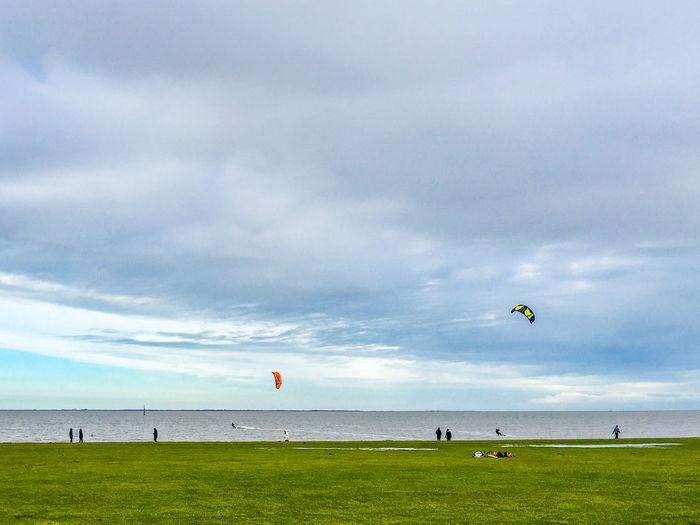 Nordseekueste, Norden-Norddeich, Germany Clouds Clouds And Sky Cloudy Deich  Dike Drachen Drachensteigen Getting Away From It All Norddeich / Norden Ostfriesland Relaxing Moments Sky