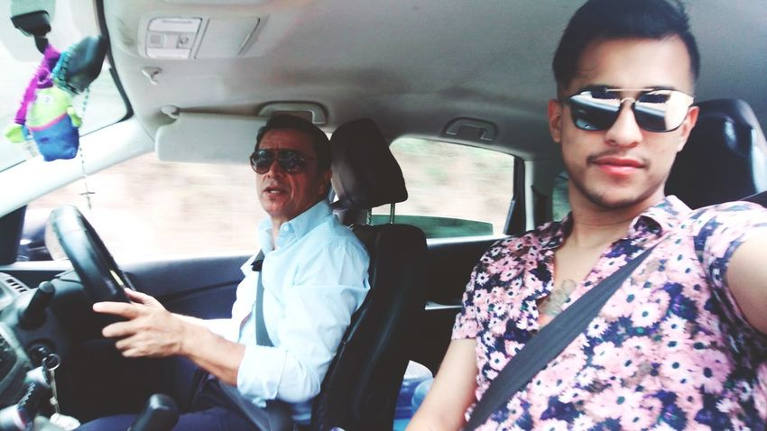 Sunglasses Two People Car Transportation Adult Adults Only Men