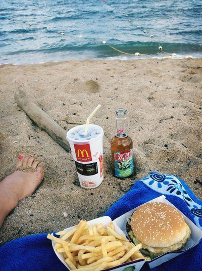Mac Donald At The Beach Enjoying Life On The Road