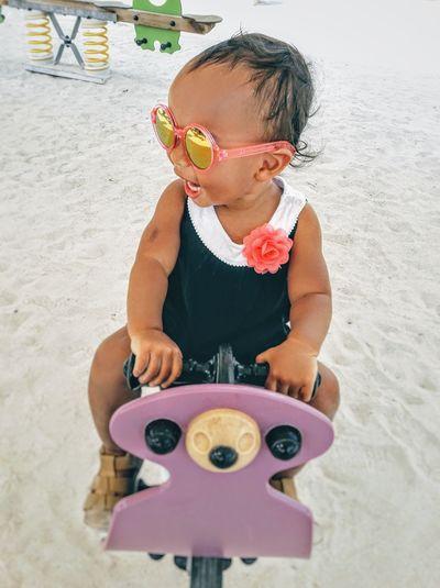 Playground Toddlerlife Toddler Playground Sunglasses Child Childhood Smiling Child Smiling Happy Child  Playground Equipment Dubai Child Sand Childhood Black Hair