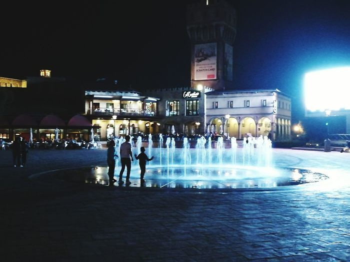 Monte Casino square, Johannesburg, South Africa. Building Exterior Architecture Built Structure Night Illuminated Motion Standing Fountain City Person Spraying Sky Outdoors City Life Town Square Huawei P9 Leica Outdoor Photography Hello World ❤ Hi