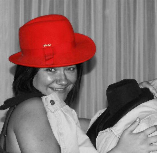 The Red Series Fotoshooting Portrait Having Fun