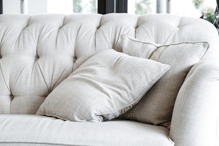 Close-up of sofa at home