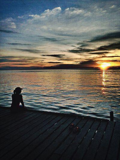 Sunset view, mabul island