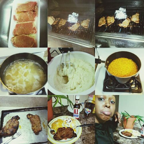 Midnight Dinner Steak & Potatoes