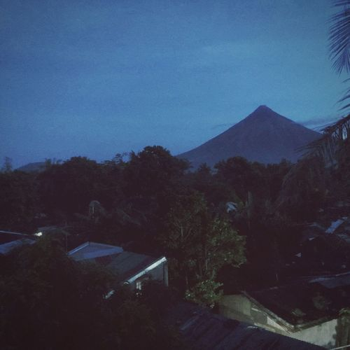 Nightfall No People Tree Outdoors Night Mountain Sky Nature Mayon Volcano Daraga, Albay Philippines City Breathing Space EyeEmNewHere
