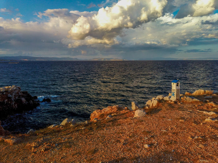 Scenic view of sea against sky