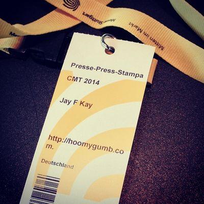 Das obligatorische Badgefoto... #CMT14 #CMTBT Messestuttgart Tradeshow Stampa Cmt14 Fair Cmtbt Stuttgart Press Ticket Messe Badge Eintrittskarte Jayfkay Hoomygumb Presse Cmt