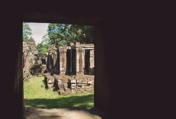 Siem Reap Cambodia Angkor Architecture History Built Structure The Past Ancient Old Ruin No People Day Ancient Civilization Plant Old Nature Place Of Worship Building Religion Tree Spirituality Belief Travel Architectural Column Outdoors Stone Material Archaeology Ruined Deterioration