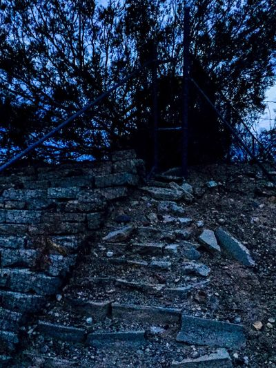 Walking Around Patterns & Textures Rock Stone Steps Stone Wall Messing Around Relaxing Twilight Scene