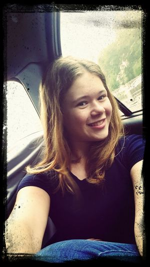 in the taxi on my way to school