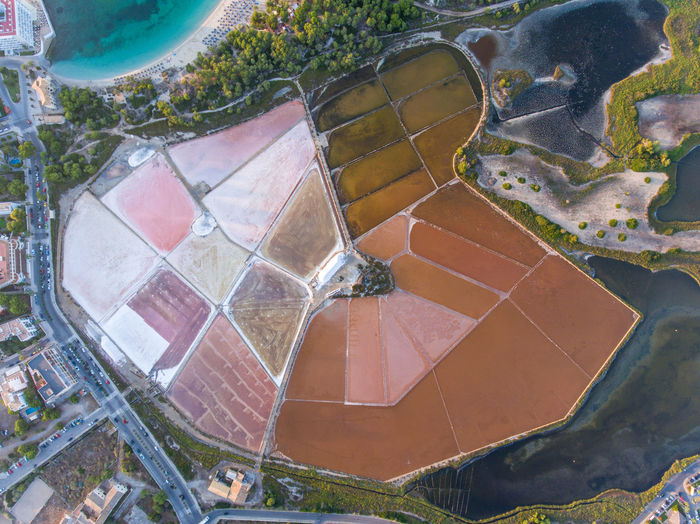 the colour of salt Aerial Photography Aerial Shot Aerial View Drone  Dronephotography Landscape Mallorca No People Salt Perspectives On Nature