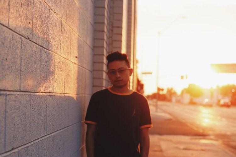 EyeEmNewHere Real People One Person Young Men Standing Young Adult Lifestyles Men Outdoors Portrait Day Adult People Adults Only Sunset Sunlight Golden Hour Golden Stories From The City